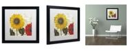"""Trademark Global Color Bakery 'Sundresses I' Matted Framed Art - 16"""" x 16"""" x 0.5"""""""