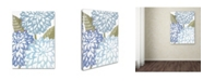 "Trademark Global Color Bakery 'Sea Dahlias I' Canvas Art - 14"" x 2"" x 19"""