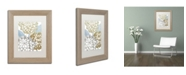 "Trademark Global Color Bakery 'Sea Dahlias II' Matted Framed Art - 11"" x 0.5"" x 14"""