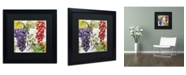 "Trademark Global Color Bakery 'Wines of Paris I' Matted Framed Art - 16"" x 16"" x 0.5"""