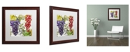"""Trademark Global Color Bakery 'Wines of Paris I' Matted Framed Art - 16"""" x 0.5"""" x 16"""""""