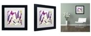 "Trademark Global Color Bakery 'Lavender II' Matted Framed Art - 11"" x 11"" x 0.5"""