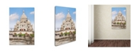 "Trademark Global Cora Niele 'Basilique du Sacre-Cur I' Canvas Art - 32"" x 22"" x 2"""