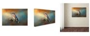 "Trademark Global Jai Johnson 'Bluebird On The Fence' Canvas Art - 32"" x 22"" x 2"""