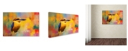 "Trademark Global Jai Johnson 'Colorful Expressions King Fisher' Canvas Art - 19"" x 12"" x 2"""