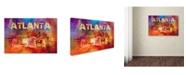 "Trademark Global Jai Johnson 'Sending Love To Atlanta' Canvas Art - 47"" x 30"" x 2"""