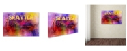 "Trademark Global Jai Johnson 'Sending Love To Seattle' Canvas Art - 47"" x 30"" x 2"""