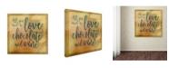 "Trademark Global Cora Niele 'Love Chocolate And Wine' Canvas Art - 14"" x 14"" x 2"""