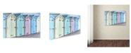 "Trademark Global Cora Niele 'Pastel Colored Beach Cabins' Canvas Art - 47"" x 30"" x 2"""