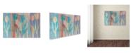 "Trademark Global Cora Niele 'Dancing Tulips Blue Pink' Canvas Art - 32"" x 22"" x 2"""