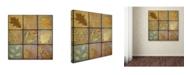 "Trademark Global Cora Niele 'Golden Leaves Ninesquare' Canvas Art - 14"" x 14"" x 2"""