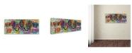 "Trademark Global Dean Russo 'Elephants' Canvas Art - 32"" x 14"" x 2"""