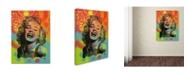 "Trademark Global Dean Russo 'Guffaw Marilyn' Canvas Art - 47"" x 35"" x 2"""