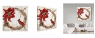 "Trademark Global Color Bakery 'Cardinal Christmas II' Canvas Art - 18"" x 18"" x 2"""
