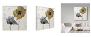 "Trademark Global Color Bakery 'Poppy Ville II' Canvas Art - 14"" x 14"" x 2"""