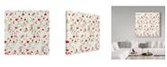 "Trademark Global Irina Trzaskos Studio 'Red Berries Pattern' Canvas Art - 18"" x 18"" x 2"""