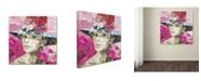 """Trademark Global Ines Kouidis 'Girl Next Door' Canvas Art - 14"""" x 14"""" x 2"""""""