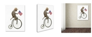 "Trademark Global J Hovenstine Studios 'Monkeys Riding Bikes #3' Canvas Art - 24"" x 18"" x 2"""