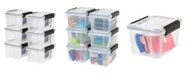 IRIS USA Iris 6.5 Quart Weather tight Storage Box, 6 Pack
