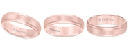 Triton Satin Comfort-Fit Band in Rose or Yellow Tungsten Carbide (6mm)