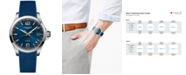 Longines Men's Swiss Conquest V.H.P. Blue Rubber Strap Watch 41mm