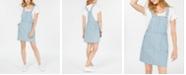 Tinseltown Juniors' Pinstriped Denim Skirtall Dress