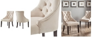iNSPIRE Q Alvia Ii Velvet Button Tufted Wingback Hostess Chair Set Of 2