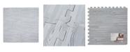 Sleeping Partners International. INC Tadpoles Xl 4 Pieces Foam Play Mat Set, Wood Textures