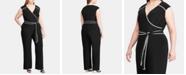 Lauren Ralph Lauren Plus Size Wide-Leg Jumpsuit