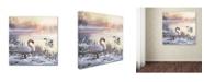 "Trademark Global The Macneil Studio 'Winter Swans' Canvas Art - 24"" x 24"" x 2"""