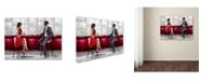 "Trademark Global The Macneil Studio 'Meeting Version 2' Canvas Art - 19"" x 14"" x 2"""
