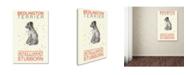 "Trademark Global Michelle Campbell 'Bedlington Print' Canvas Art - 19"" x 12"" x 2"""