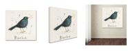 "Trademark Global Michelle Campbell 'Black Bird' Canvas Art - 18"" x 18"" x 2"""