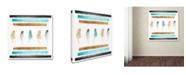 "Trademark Global Tammy Kushnir 'Feathers Aligned' Canvas Art - 14"" x 14"" x 2"""