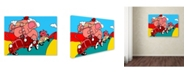 "Trademark Global Miguel Balbas 'Race' Canvas Art - 24"" x 18"" x 2"""