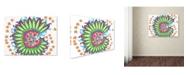 """Trademark Global Miguel Balbas 'Flower 1' Canvas Art - 19"""" x 14"""" x 2"""""""