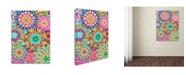 "Trademark Global Miguel Balbas 'Pattern Flowers 3' Canvas Art - 32"" x 24"" x 2"""