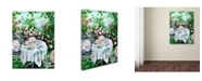 """Trademark Global Susan Rios 'Rose Garden Tea' Canvas Art - 32"""" x 24"""" x 2"""""""