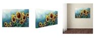 """Trademark Global Wanda Mumm 'Sun And Gold' Canvas Art - 19"""" x 12"""" x 2"""""""