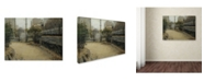 """Trademark Global Santiago Rusinol 'Garden Of Montmartre' Canvas Art - 19"""" x 14"""" x 2"""""""