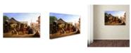 "Trademark Global William Hahn 'Sacramento Railroad Station' Canvas Art - 47"" x 30"" x 2"""