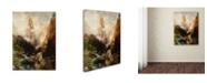 "Trademark Global Thomas Moran 'Mist In Kanab Canyon Utah' Canvas Art - 19"" x 14"" x 2"""