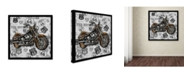 "Trademark Global Jean Plout 'Vintage Motorcycles On Route 66 16' Canvas Art - 18"" x 18"" x 2"""