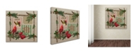 """Trademark Global Jean Plout 'Country Christmas 1' Canvas Art - 18"""" x 18"""" x 2"""""""