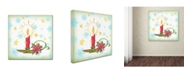 """Trademark Global Jean Plout 'Holiday Celebration 6' Canvas Art - 14"""" x 14"""" x 2"""""""