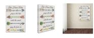 "Trademark Global Jean Plout 'Sentimental Arrows 1' Canvas Art - 24"" x 18"" x 2"""