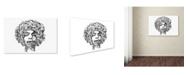 """Trademark Innovations Octavian Mielu 'Jimi Hendrix' Canvas Art - 19"""" x 12"""" x 2"""""""