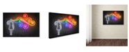 "Trademark Innovations Octavian Mielu 'The Dark Side of the Mind' Canvas Art - 47"" x 30"" x 2"""