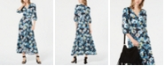 Bar III Floral-Print Wrap Maxi Dress, Created for Macy's