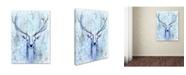 """Trademark Global Michelle Faber 'Blue Spirit Deer' Canvas Art - 19"""" x 14"""" x 2"""""""
